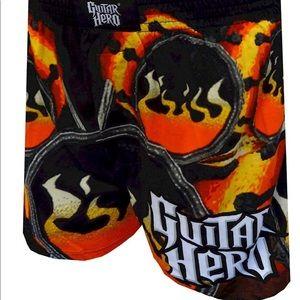 Guitar hero Men boxer Sleep Shorts Large/36-38